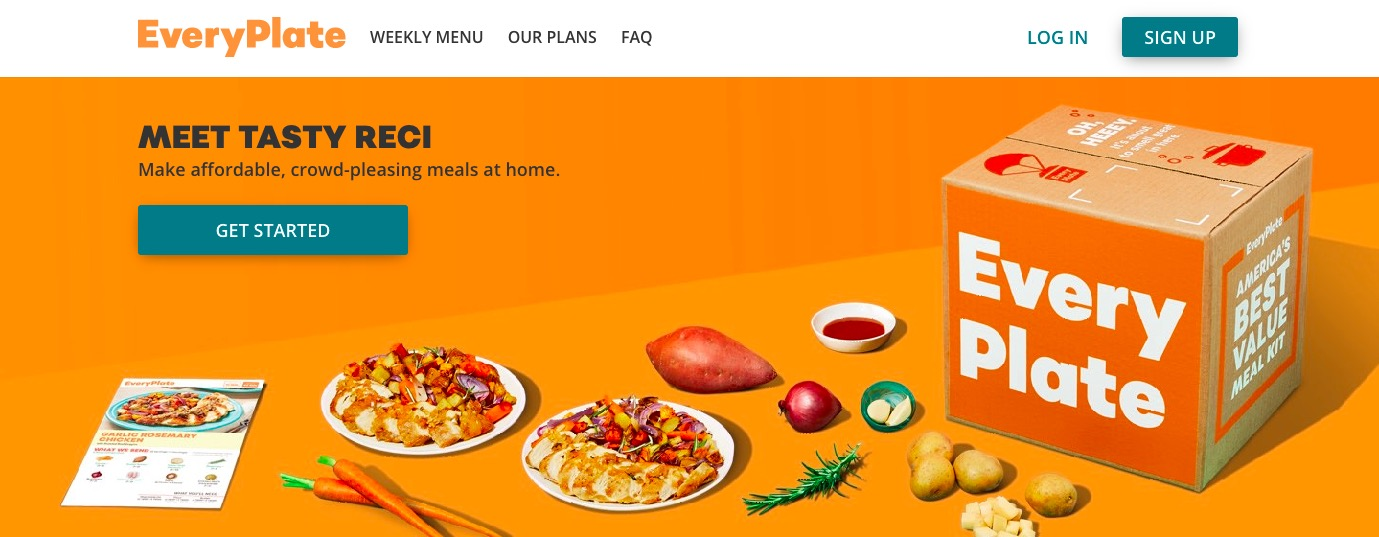 Everyplate main page