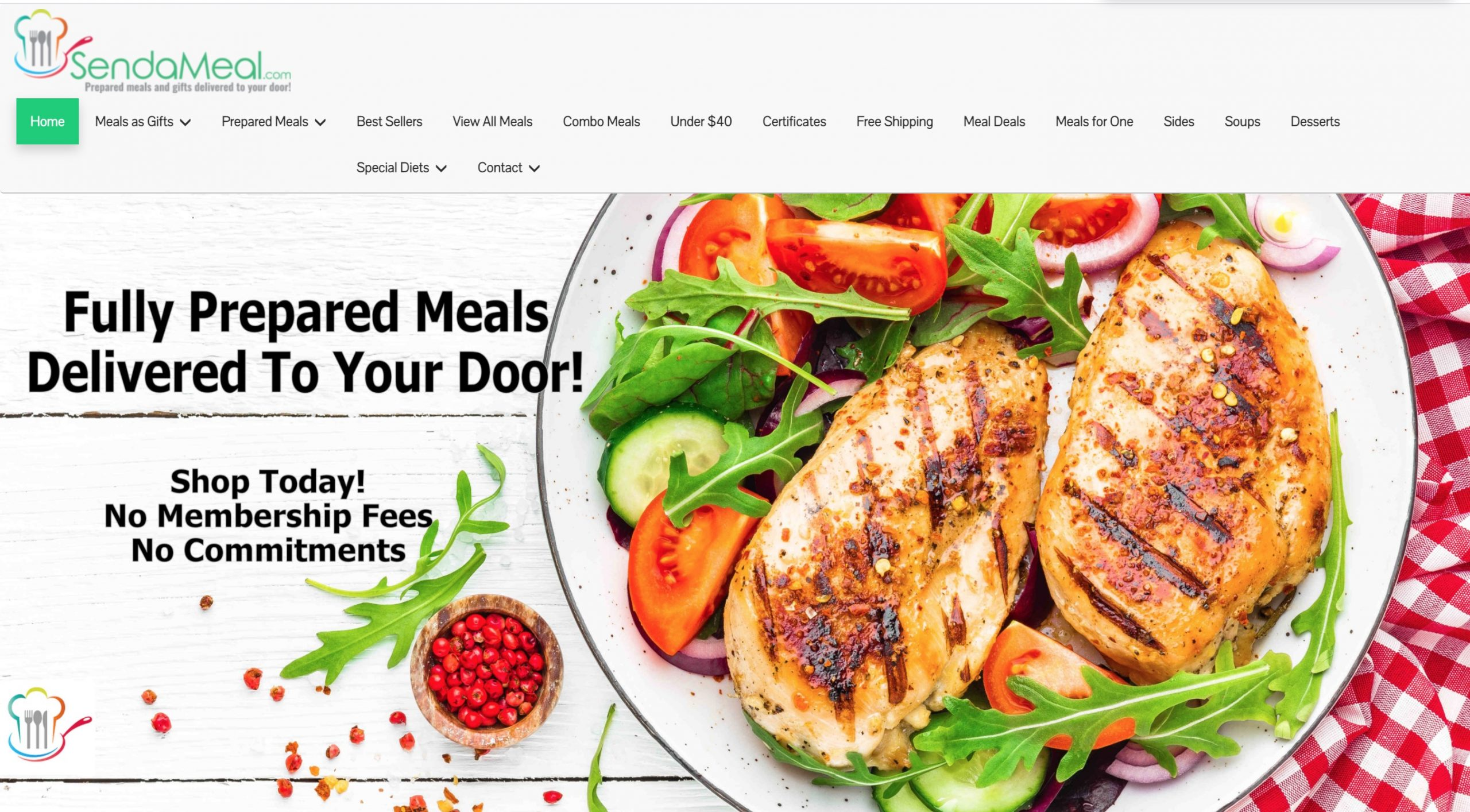 Send a Meal main page