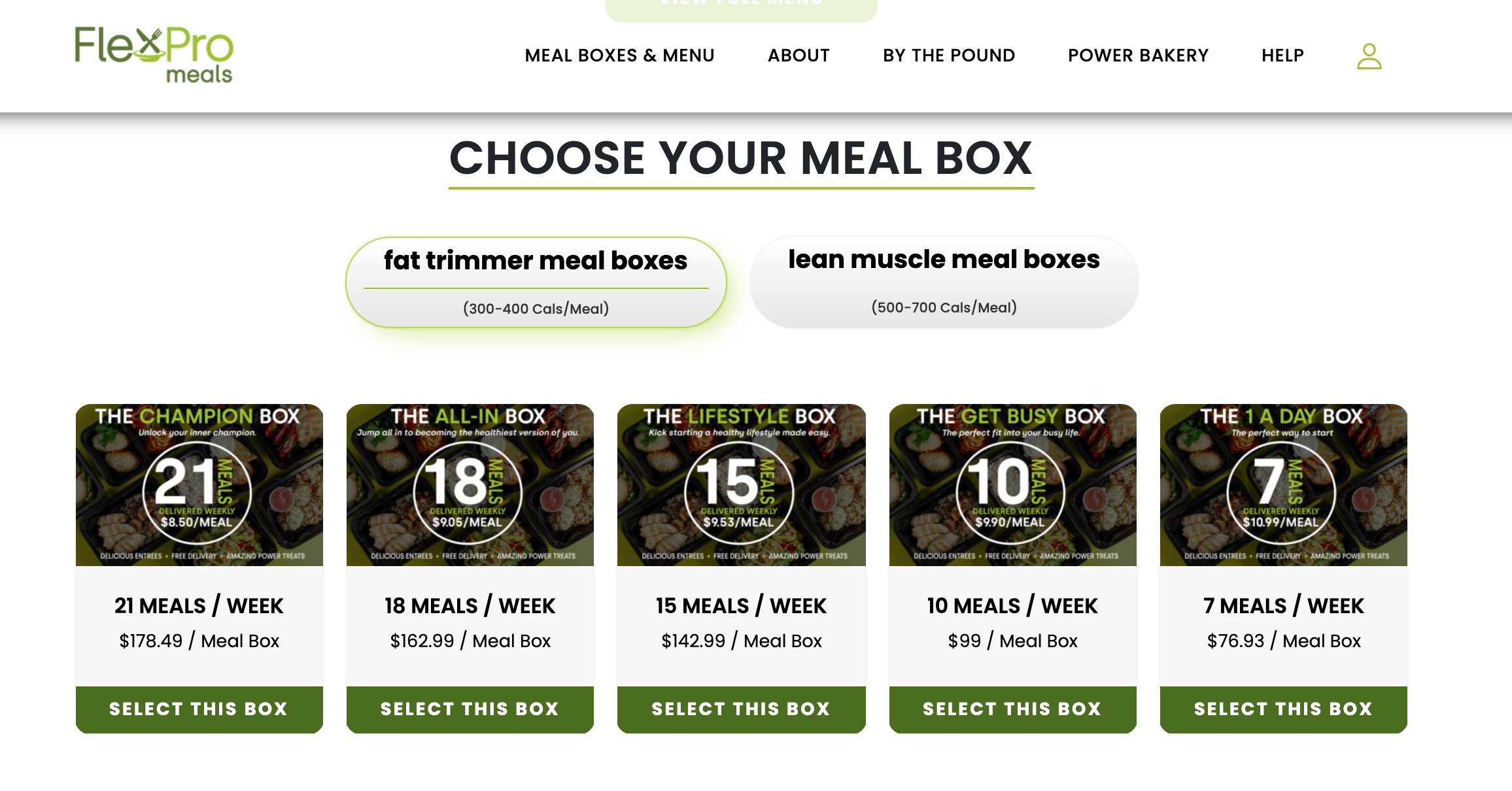 flexpro meals meal box